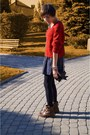Ruby-red-sh-sweater-navy-mango-skirt