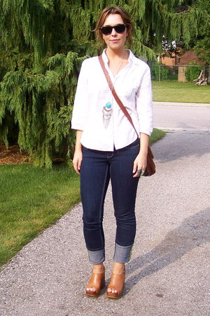 H&amp;M blouse - garage jeans - Jeffrey Campbell shoes - accessories - H&amp;M purse
