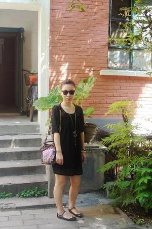 vintage dress - MiuMiu shoes - MiuMiu purse - rayban sunglasses