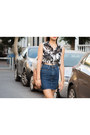 Black-and-white-yarins-boutique-top-denim-american-apparel-skirt