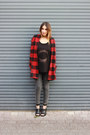 Ruby-red-plaid-sheinside-coat