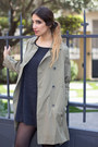Camel-trench-coat-chicwish-coat-silver-merce-earrings
