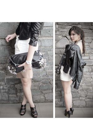 black Bershka jacket