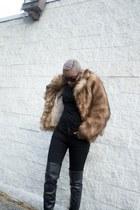 Aldo boots - H&M coat