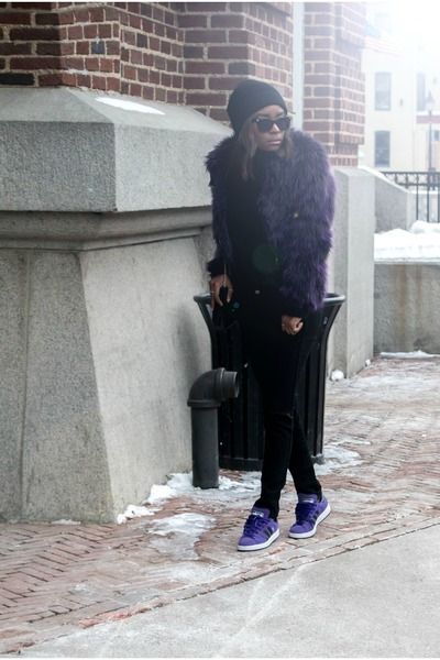 Betsey Johnson coat - Adidas sneakers