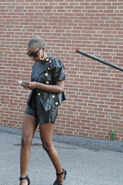 Forever 21 jacket - Sheinside shorts - zeroUV sunglasses