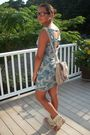 Blue-wet-seal-dress-beige-tellos-shoes-beige-aldo-bag