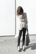 romwe shirt - ROOTS bag - AX pants - Zara heels