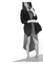 romwe dress - bano eemee blazer - Alexander Wang bag - Alexander Wang heels