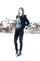 Zara boots - Zara blazer - Zara pants