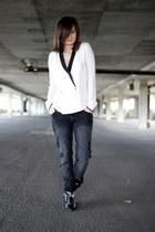 Zara flats - H&M jeans - Zara blouse