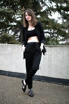 Zara blazer - Zara sandals - H&M pants