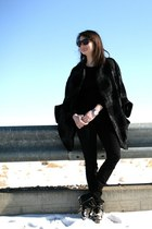 Zara boots - Zara jacket - Zara pants - banana republic top