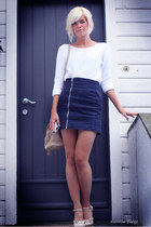 navy H&M skirt