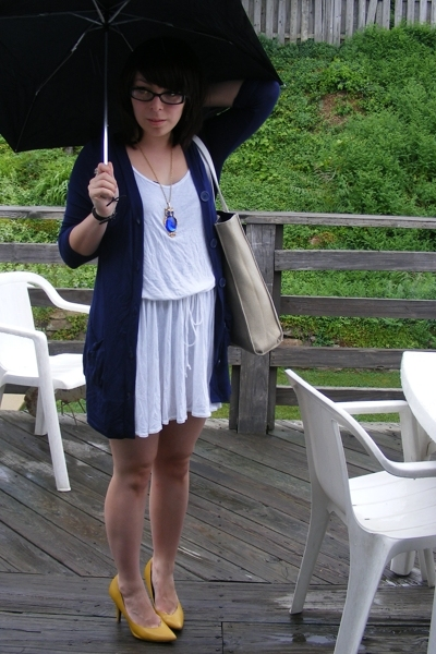 Wet Seal sweater - American Apparel dress - vintage necklace - Gabriel Brothers