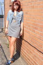 ENR dress - Wet Seal jacket - Nine West shoes - vintage necklace