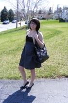 Blue Asphalt dress - Forever21 sweater - Seventh Avenue Shoes shoes - unknown pu