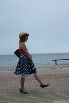 skirt - American Apparel dress - payless shoes - unknown hat - Ezekiel purse