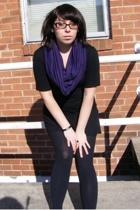 DIY scarf - American Apparel dress - simply vera wang shoes