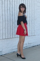American Apparel skirt - Wet Seal top - vintage necklace - Mossimo shoes - Ezeki