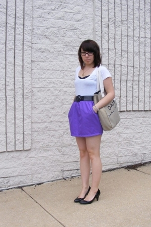 American Apparel skirt - ENR shirt - Wet Seal belt - Target shoes - forever 21 n