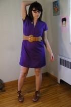 American Apparel dress - Wet Seal belt - forever 21 shoes - Atomic Warehouse acc