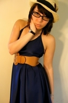 forever 21 hat - American Apparel dress - Wet Seal belt