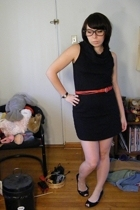 American Apparel dress -  belt - payless shoes
