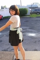 ENR shirt - Wet Seal necklace - American Apparel belt - American Apparel skirt -