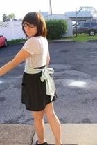 ENR shirt - Wet Seal necklace - American Apparel belt - American Apparel skirt -