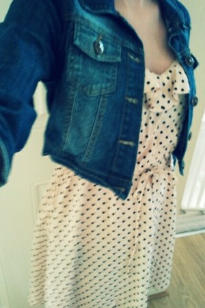 neutral H&M dress - denim jacket Primark jacket