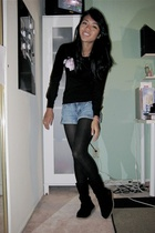forever 21 shirt - forever 21 shorts - Old Navy tights - Uggs