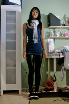 scarf - Urban Outfitters top - tights - Target shoes