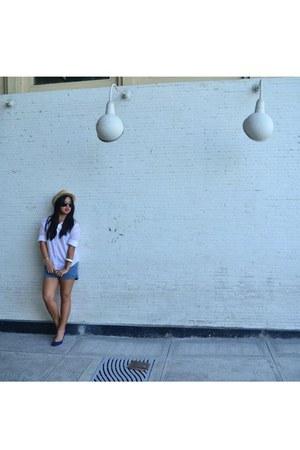 Topshop hat - Forever 21 shorts - Zara blouse