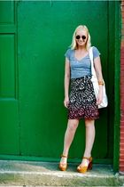 Jcrew skirt - BDG t-shirt - Jeffery Campbell shoes - See by Chloe purse