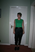 DIY necklace - Toshop pants - new look vest