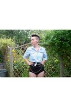 DIY belt - H&M shirt - American Apparel shorts