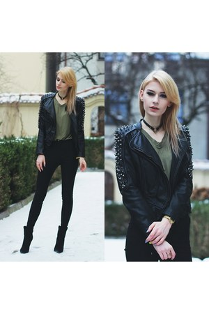 black romwe jacket