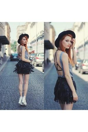black VESSOS skirt