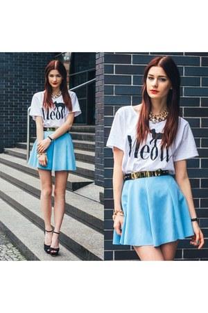 light blue Sheinsidecom skirt