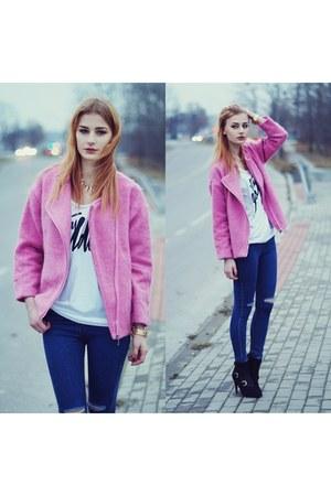 bubble gum OASAP coat