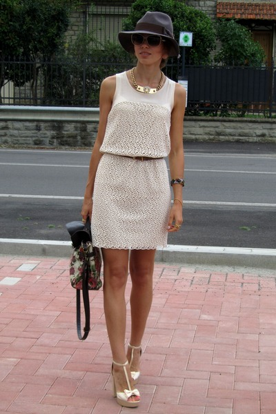 Zara dress - H&M hat - New Yorker bag - Miu Miu sunglasses - Forever 21 heels