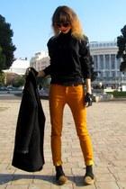 Zara jeans - Mango coat - Oviesse sweater - Miu Miu sunglasses - Zara flats