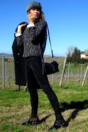 Zara jacket - Zara boots - Mango coat - Zara jeans - fashionbycatia hat