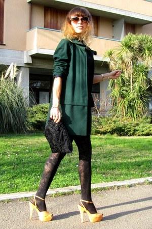 Zara coat - Miu Miu sunglasses - Zara heels