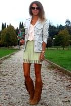 albatros ring - Stradivarius boots - Robe di Kappa jacket - Miu Miu sunglasses