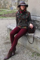 SIGNET jacket - Zara boots - Zara jeans - H&M hat - Zara bag - Batulu gloves