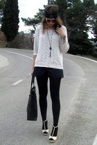 Mango sweater - Calzedonia tights - Mango bag - Gucci sunglasses