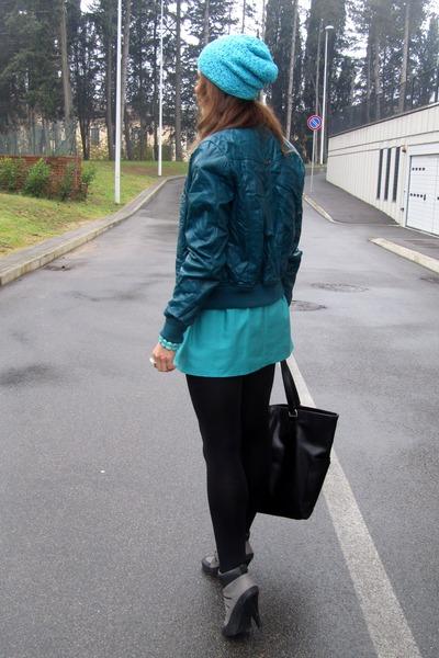 handmade hat - blink boots - Terranova jacket - Mango bag - handmade skirt
