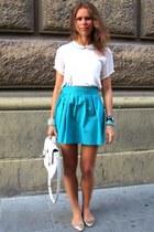 handmade skirt - Dynasty bag - Zara blouse - New Yorker bracelet - SIX ring